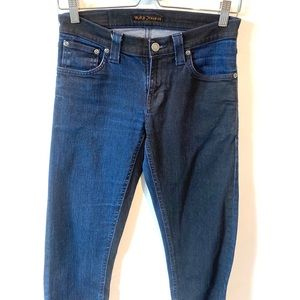 Nudie Jeans   organic cotton two tone skinny jeans
